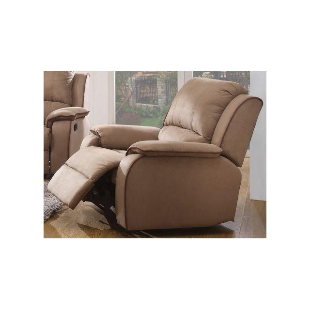 marque generique fauteuil relax en microfibre hernani chocolat achat vente canap s pas. Black Bedroom Furniture Sets. Home Design Ideas