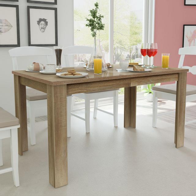Vidaxl Table de salle à manger 140 x 80 75 cm chêne