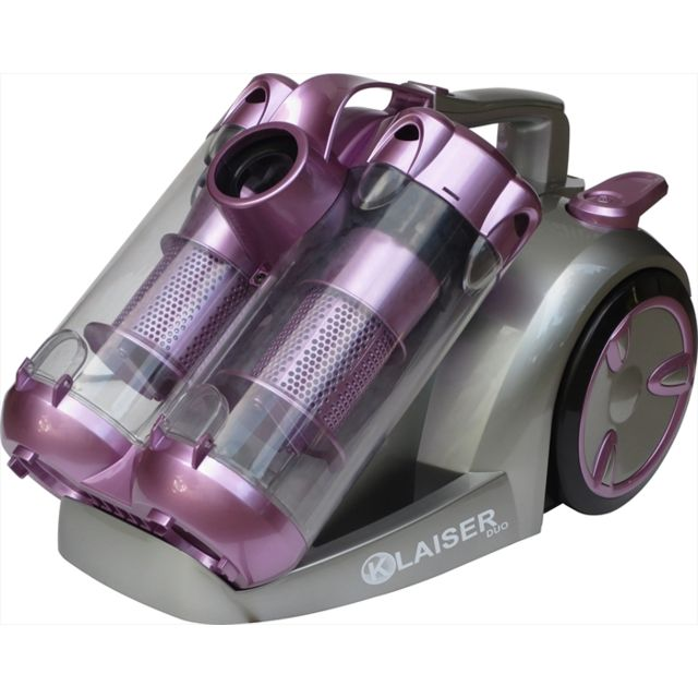 KLAISER BS112D Aspirateur Cyclone Sans Sac Confort Technologie Duo 2400W