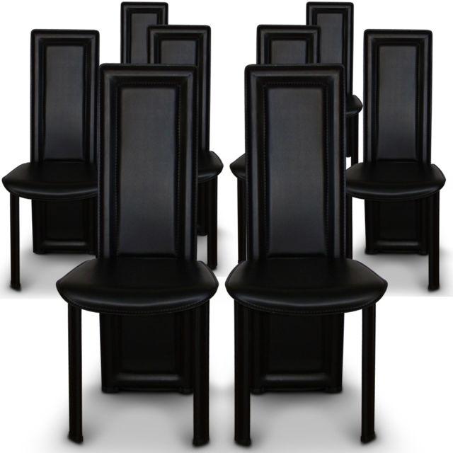 menzzo lot de 8 chaises lune noir pas cher achat. Black Bedroom Furniture Sets. Home Design Ideas