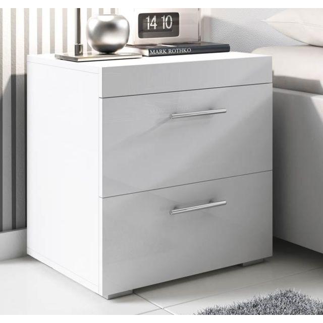 Design Ameublement Table de chevet Ciro blanc