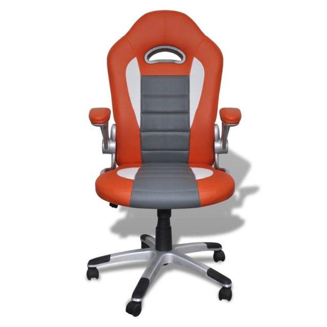 Icaverne - Sièges de bureau famille Fauteuil en similicuir moderne de bureau design orange