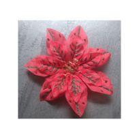 Universel - Barette fleur a cheveux rouge vert métalisé pin up rockab