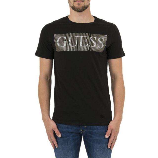 Guess Tee shirt jeans m83i04 noir pas cher Achat Vente