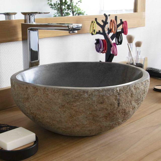 Ocean Line - Vasque de salle de bain à poser, lave-main en pierre de ... 3c04991be799