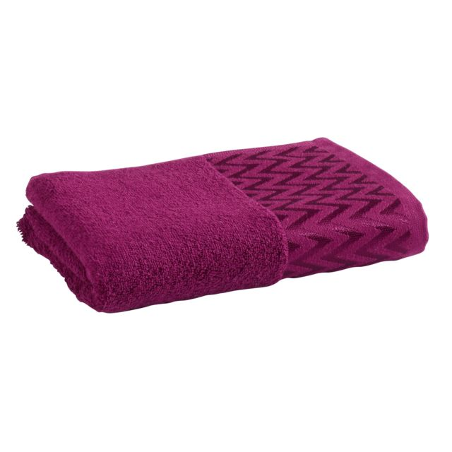 tex home drap de douche polo en coton violet pas cher achat vente serviettes de bain. Black Bedroom Furniture Sets. Home Design Ideas