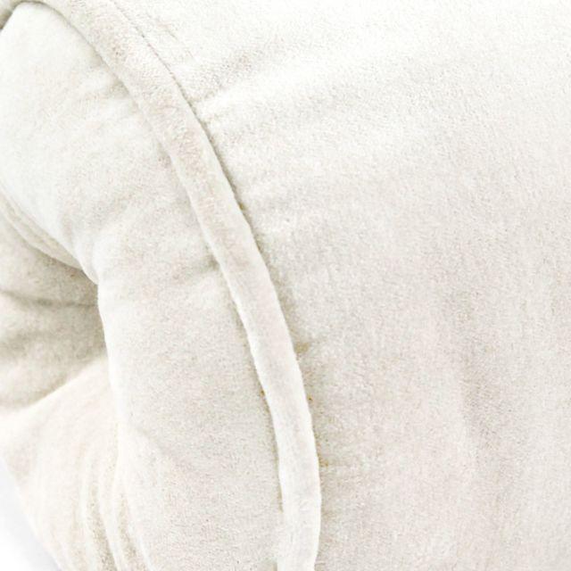 Mon Beau Tapis - Polochon Arthur 50x15cm, Écru • Velours de coton 50cm x 15cm