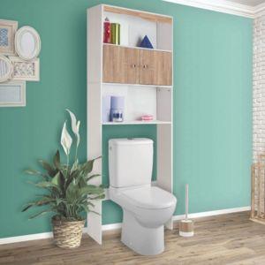 idmarket meuble tag re dessus wc coloris h tre hetre pas cher achat vente colonne de. Black Bedroom Furniture Sets. Home Design Ideas