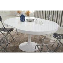 Inside75 - Table ronde extensible Tulipe blanche