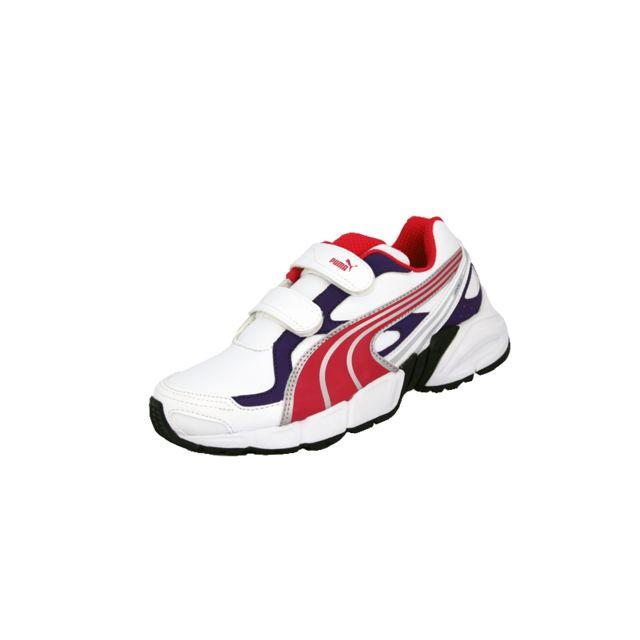 c64b3e6a29946 Puma - axis 2 sl v jr blanc violet rose enfant chaussures - pas cher Achat    Vente Baskets enfant - RueDuCommerce