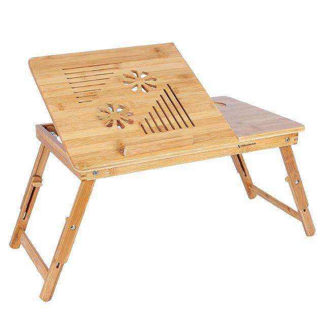 rocambolesk superbe table de lit pliable en bambou pour ordinateur neuf pas cher achat. Black Bedroom Furniture Sets. Home Design Ideas