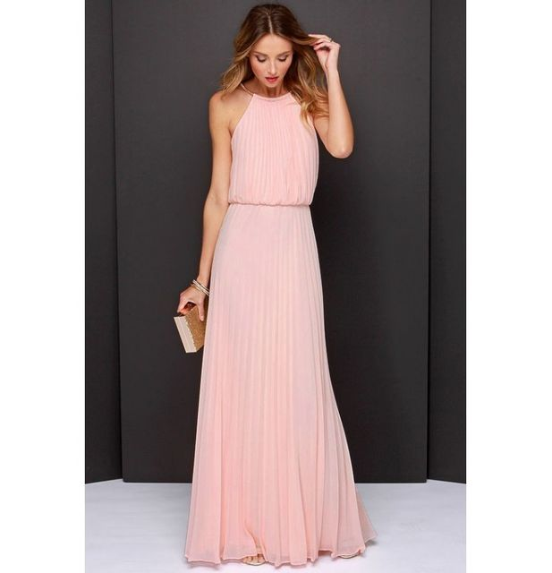 7ddf45ae318 Fashion Mode 45 - Robe longue drapée Couleur - Rose