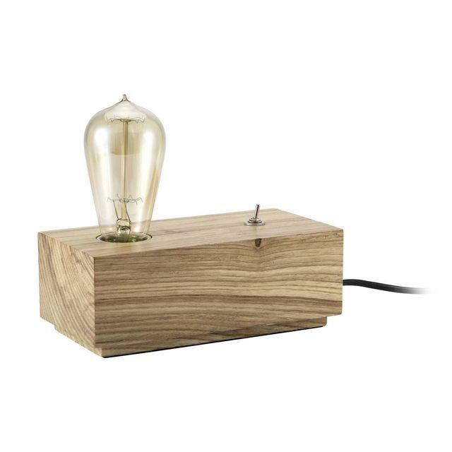 Lampe Rétro À En Bois Hauteur 10cm Poser Rectangle Buchen rdxoCeBW