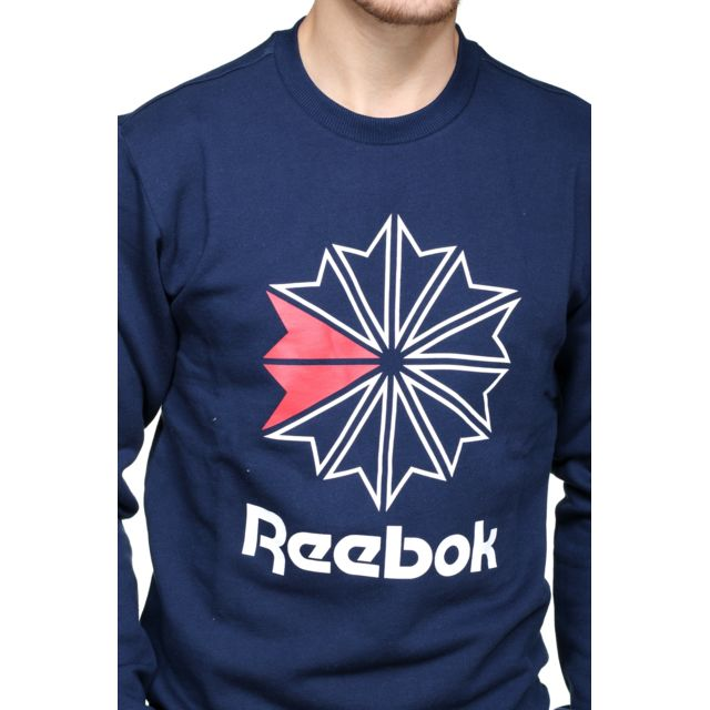 Homme Sports et Loisirs Reebok AC Ft Big Starcrest Crew Pull