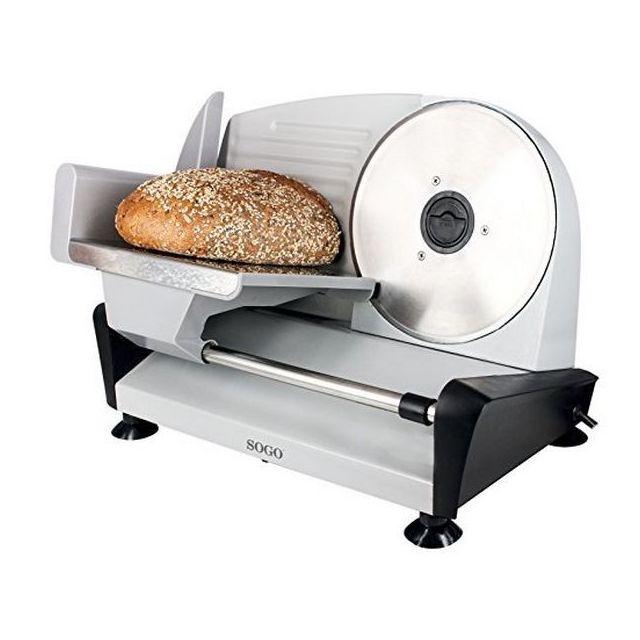 Totalcadeau Trancheuse professionelle à viande, pain, jambon en acier inoxydable 150W