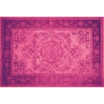 Tapis en vinyle - Vintage - V-012, 230X160cm, Violet foncé/Violet clair,  Violet foncé/Violet clair