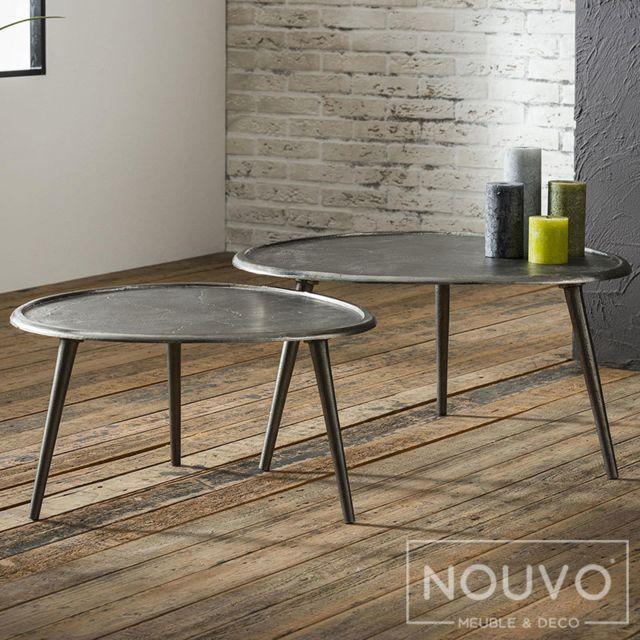 Nouvomeuble Table basse ronde Nona
