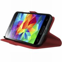 Mocca - Flip Case Rouge Samsung Galaxy S5 Mini