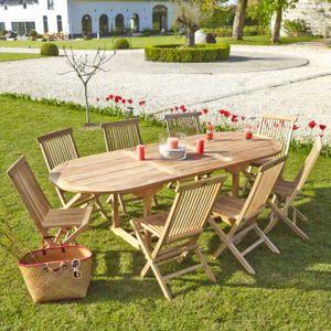 Bois Dessus Bois Dessous Salon De Jardin En Bois De Teck Brut Qualite Premium 8 10 Pers