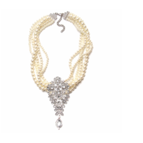 Collection Zanzybar - Collier de star en perles et gros médaillon en strass Adele