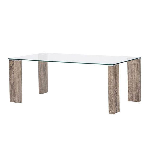 Tuoni Table Basse En Verre Trempé Pure Design Tower Pas Cher