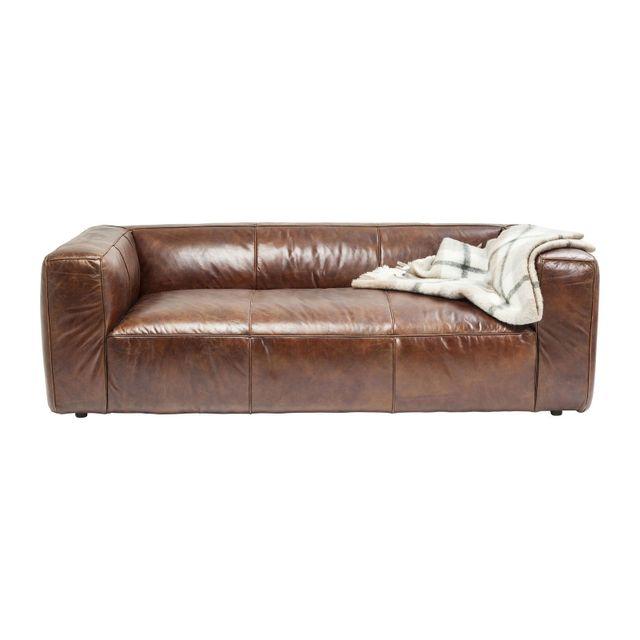 Karedesign Canapé en cuir Cubetto 220 cm Kare Design