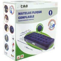 Cao Camping - Matelas gonflable Mono place Gonfleur incorporé