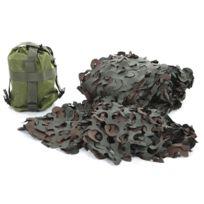 Fosco - Filet De Camouflage Woodland + Sac