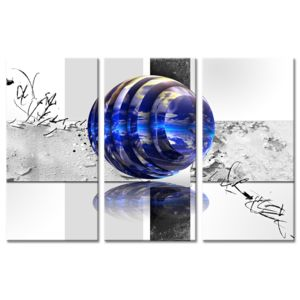 Declina - Tableau abstrait design à prix bas - Triptyque sur toile imprimée 80cm x 120cm