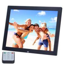 Wewoo - Cadre photo numérique noir 14 pouces Hd Led avec support et télécommande, allwinner, réveil / lecteur Mp3 / Mp4 / Movie