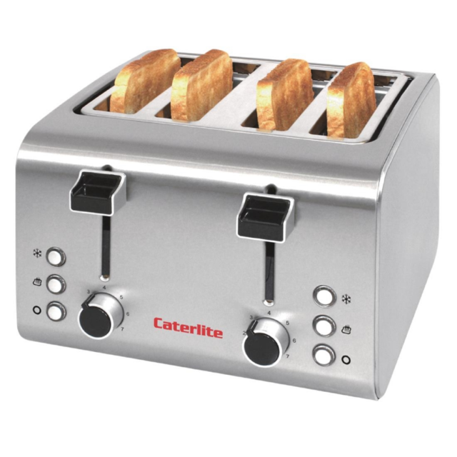 Caterlite Grille Pain Professionnel Inox - 4 Tranches 90 t/h