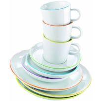 Arzberg - 2100/70657/3413 Cucina Colori Service à café en porcelaine 18 pièces Coffret cadeau rouge Import Allemagne