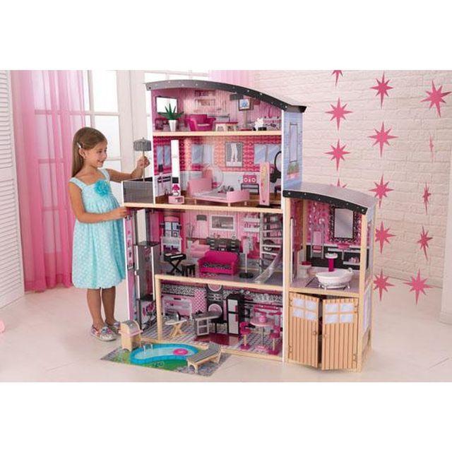 kidkraft maison de poup es sparkle pas cher achat vente maisons de poup es rueducommerce. Black Bedroom Furniture Sets. Home Design Ideas