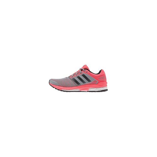 official photos 200b4 59e53 Adidas - Chaussures Revenge Boost 2 gris argent rouge femme