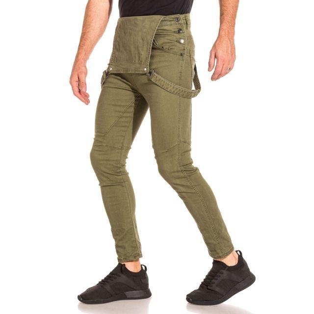 acheter populaire f938f 358b5 BLZ Jeans - Salopette homme kaki multipoches - pas cher ...