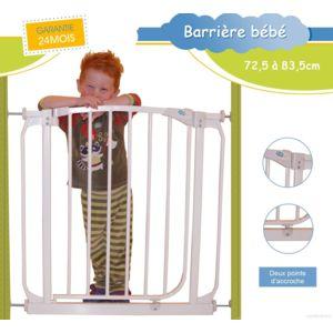 bebe lol barri re de s curit enfant extensible de 72 5 cm 83 5 cm b b lol pas cher achat. Black Bedroom Furniture Sets. Home Design Ideas
