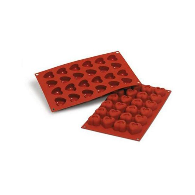 Guery Moule silicone 24 empreintes savarin coeur
