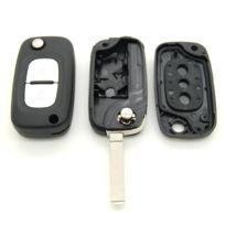 Mygoodprice - Coque clé plip télécommande 2 boutons Renault Kangoo Scenic Clio