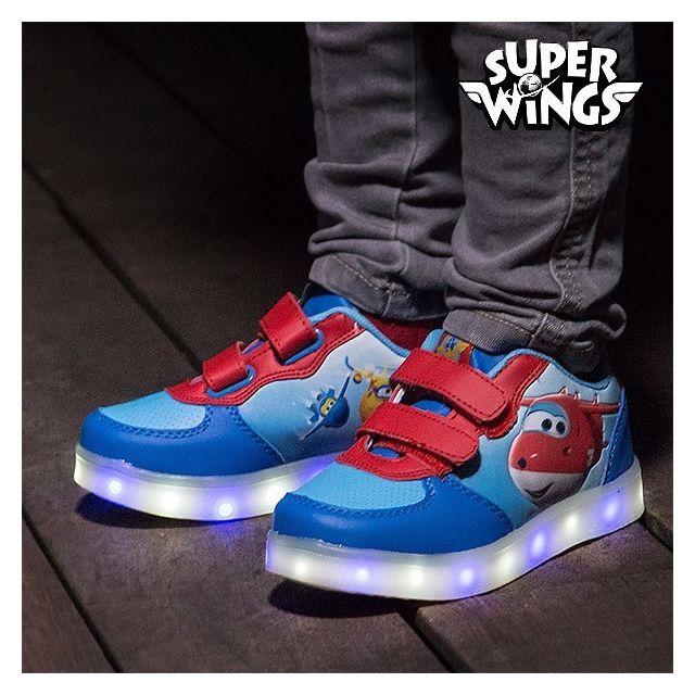 e4fdd2289a782 Marque Generique - Paire de baskets Led Super Wings à semelles lumineuses -  Chaussure lumiere enfant