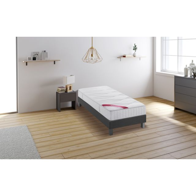relaxima hemisphere ensemble sommier matelas m moire de. Black Bedroom Furniture Sets. Home Design Ideas