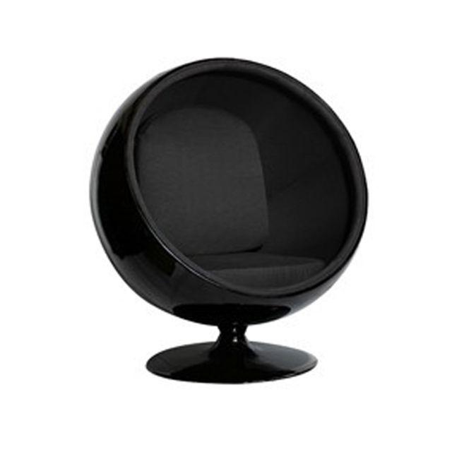 Oneboutic Fauteuil design noir noir - Boule