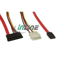 InLine® - Cable d'Alimentation + Données Sata - 50+15cm