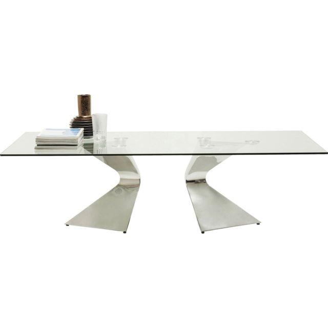 Karedesign Table basse Gloria chromée 140x82cm Kare Design