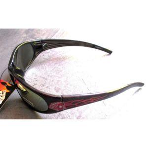 hotrodspirit - lunette de soleil poker flammes bleu rock roll homme biker 4O1S8zhgr