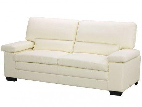 marque generique canap 3 places en cuir de buffle mimas. Black Bedroom Furniture Sets. Home Design Ideas