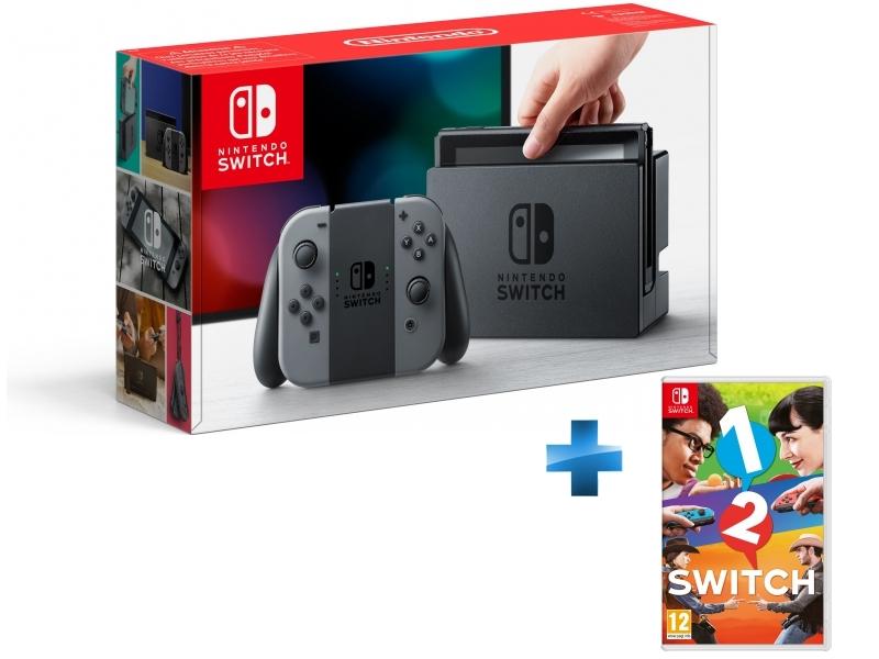 Console Switch avec une paire de Joy-Con Gris + 1-2-Switch