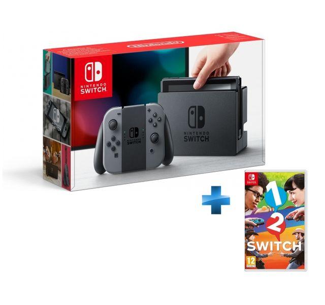NINTENDO - Console Switch avec une paire de Joy-Con Gris + 1-2-Switch