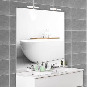 creazur miroir avec applique mircoline 140 cm appliques pas cher achat vente miroir de. Black Bedroom Furniture Sets. Home Design Ideas