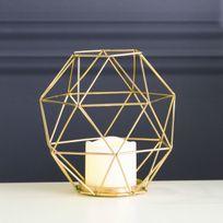 Xmas Living Glass - Edge Lantern - Photophore Led Or H20cm - Guirlande et objet lumineux designé par
