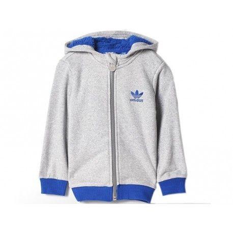 Adidas Teddy Bébé Garçon Blu I Veste Furhoody Sherpa Originals 8XZnOPN0wk